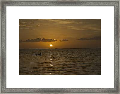 Taking In The Sunset Framed Print by Christin Walton