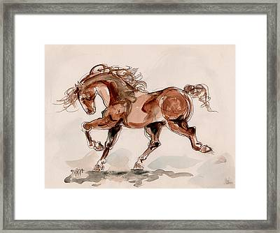 Taking Stride Framed Print by Mary Armstrong