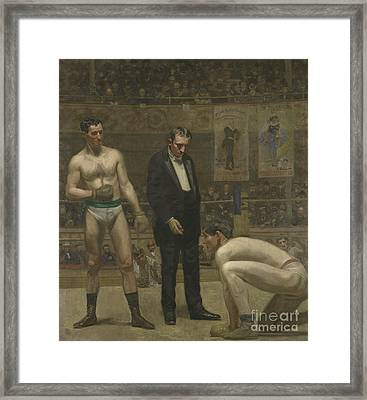 Taking The Count, 1898 Framed Print by Thomas Cowperthwait Eakins