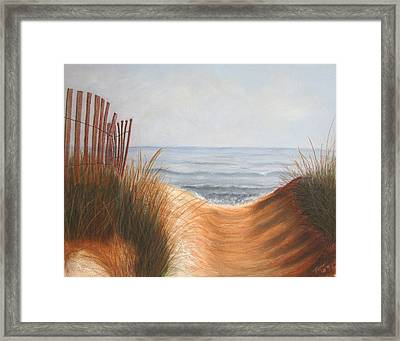 Taking The Path Framed Print