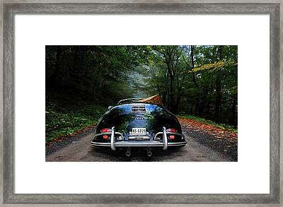 'taking The Scenic Road Way To Get Home.' 1958 Porsche 356a, 1600 Speedster Framed Print