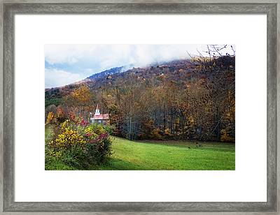 Taking The Scenic Route Framed Print by Debra and Dave Vanderlaan