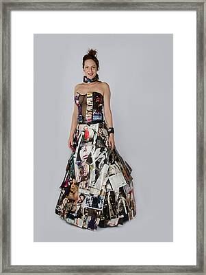 Megan In Gown Framed Print