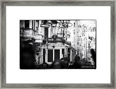 Taksim Tunel 2 Framed Print
