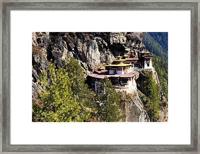 Taktsang Monastery  Framed Print by Fabrizio Troiani