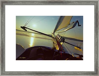 Taku - Lift Off - Lake Geneva Wisconsin Framed Print