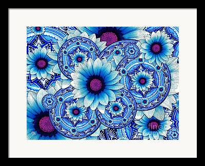 Mexican Flowers Framed Prints