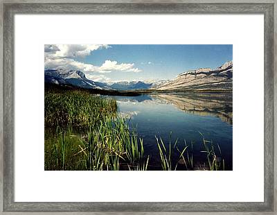 Talbot Lake Framed Print by Shirley Sirois