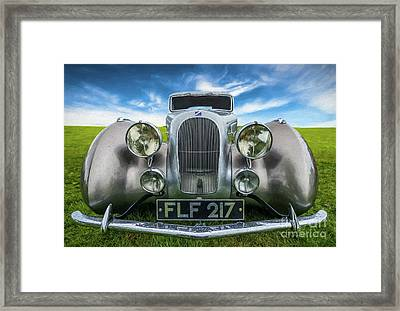 Talbot T23 Figoni Et Falaschi Coupe Framed Print by Adrian Evans