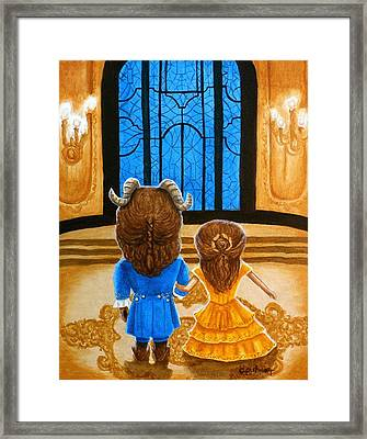 Framed Print featuring the painting Tale As Old As Time by Al  Molina