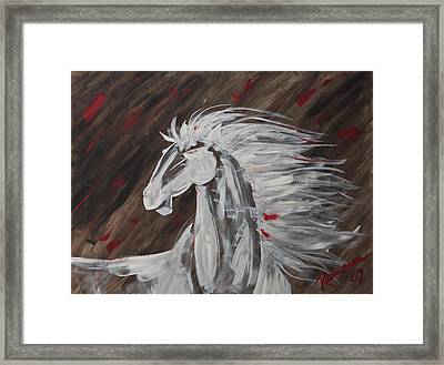 Tale Of The Wind Horse Framed Print by Stephane Trahan