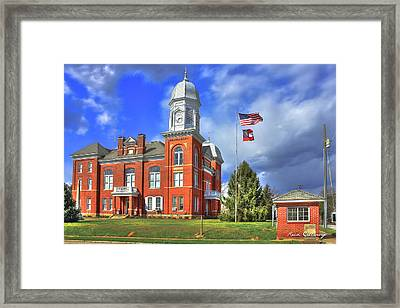 Taliaferro County Court House Framed Print by Reid Callaway