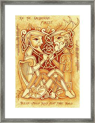 Taliesin And Merlin Talked About Many Things Framed Print