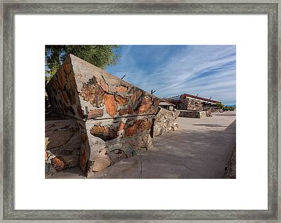 Taliesin West Entrance Court Framed Print by Steve Gadomski