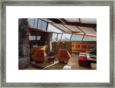 Taliesin West Interior Framed Print by Steve Gadomski