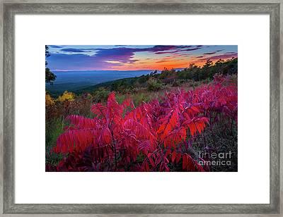 Talimena Twilight Framed Print