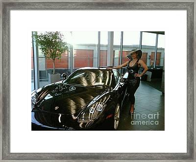 Talisa Hartleys Sports Cars And Big Muscles Framed Print