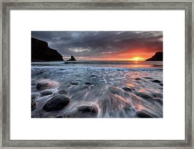 Talisker Bay Rocky Sunset Framed Print