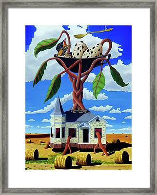 Framed Print featuring the painting Talk Of The Town by Paxton Mobley