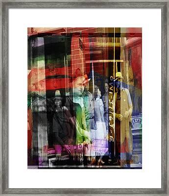 Talk On The Street Framed Print