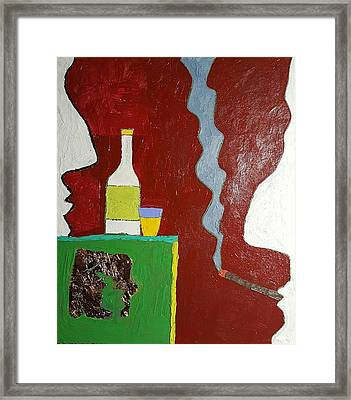 Framed Print featuring the painting  Talk Oil On Canvas 20 X 24 2016 by Radoslaw Zipper