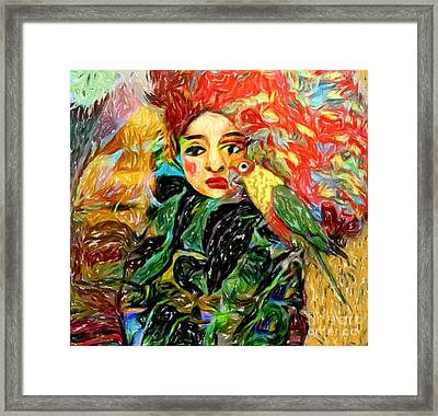 Framed Print featuring the digital art Talk To Me by Alexis Rotella