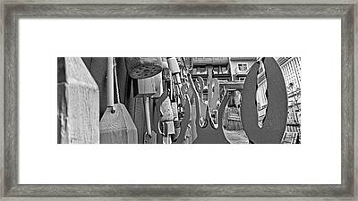 Talk To The Hand Talk To The Claw Bw Framed Print by Betsy Knapp