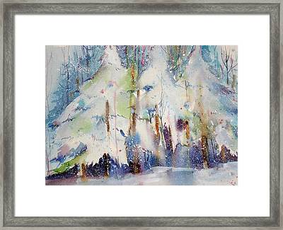 Talk To The Trees Framed Print by Maurie Harrington