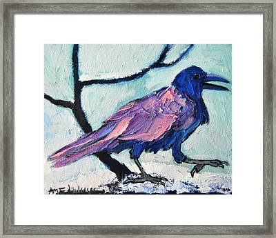 Talkative Crow 1 Framed Print