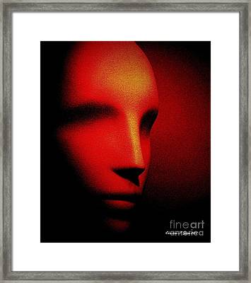 Talking Head Red Framed Print