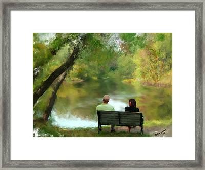 Talking It Over Framed Print by Eddie Durrett