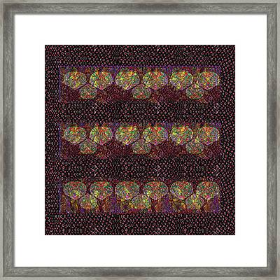 Talking Point Art Fusion Graphic Art  Jaipur Fabric Beads Dots Texture Print And  Digital Art Graphi Framed Print