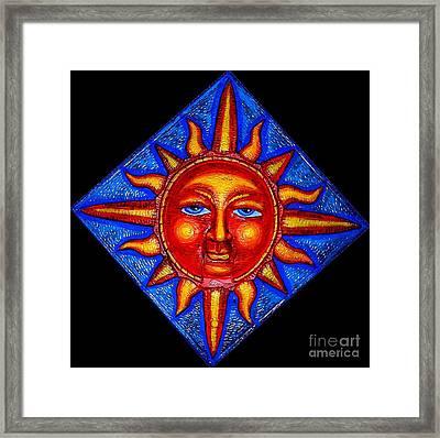 Talking Sun Framed Print by Genevieve Esson