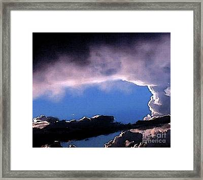 Talking To God Framed Print by Methune Hively