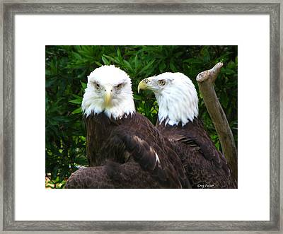 Talking To Me Framed Print
