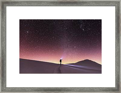 Talking To The Stars Framed Print by Evgeni Dinev