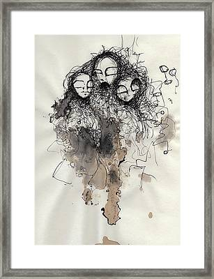 Talking To Yourself Again  Framed Print by Mark M  Mellon