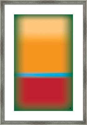 Tall Abstract Color Framed Print