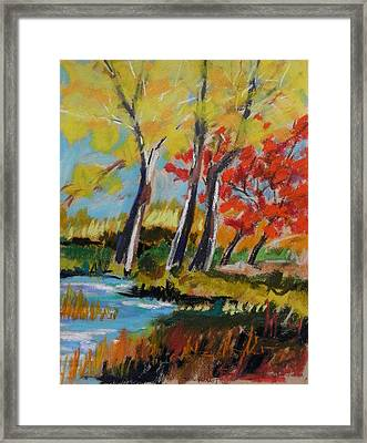 Framed Print featuring the painting Tall And Golden by John Williams