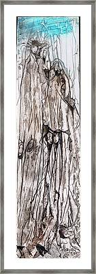 Tall  Framed Print by Anne-D Mejaki - Art About You productions
