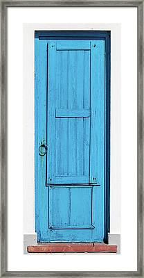 Tall Blue Door Framed Print by David Letts