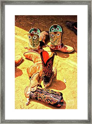 Tall Boots Framed Print by Gus McCrea