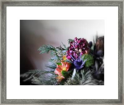 Tall Cool Glass Of Water Framed Print by Sian Lindemann