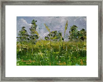 Framed Print featuring the painting Tall Grass by Judith Rhue