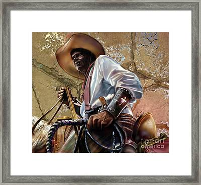 Tall In The Saddle Cowboy Pride 1a Framed Print