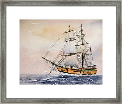 Tall Masted Ship Framed Print by Lynne Parker
