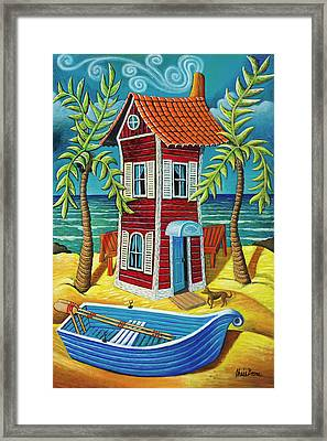 Tall Red House Framed Print by Chris Boone