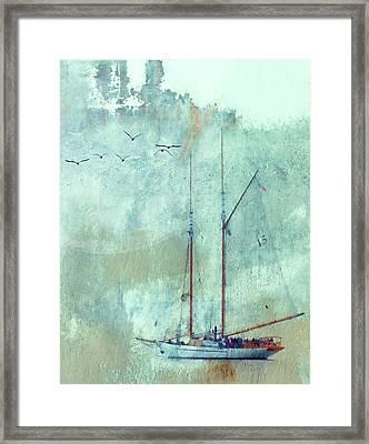 Tall Ship Adventuress Framed Print