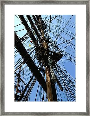 Tall Ship Design By John Foster Dyess Framed Print