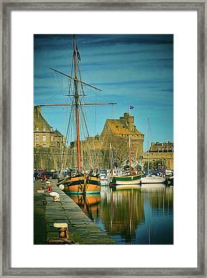 Tall Ship In Saint Malo Framed Print